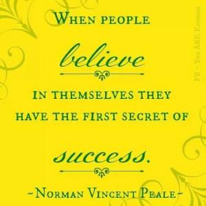 Believe in self - success