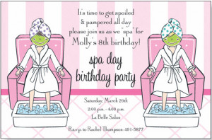 Nail Polish Spa Party Invitation