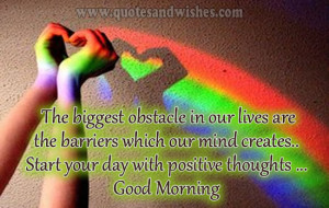 Good morning wishes..Start your day with positive thoughts in your ...