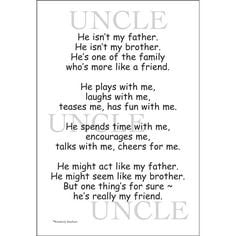 Quotes About Uncles   Uncle Scrapbook Stickers   Quotes & Stickers for ...