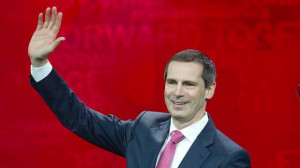 Premier Dalton McGuinty makes his farewell speech at Maple Leaf ...