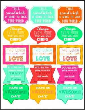 30 Printable Lunch Box Notes! So fun and cute sayings. Etsy Audrey ...