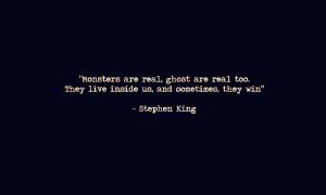 inner demons #stephen king #marialia #quote