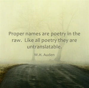 Baby Name Quotable Quotes: W.H. Auden