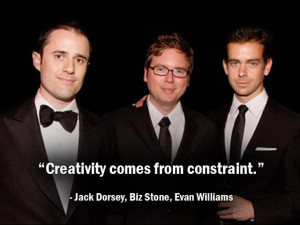 Jack Dorsey, Evan Williams, Biz Stone (Twitter)
