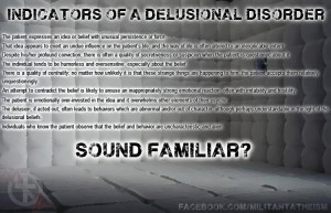 Indicators of a Delusional Disorder. by Echelon1288