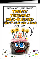 Happy birthday - 57 years old card - Product #277768