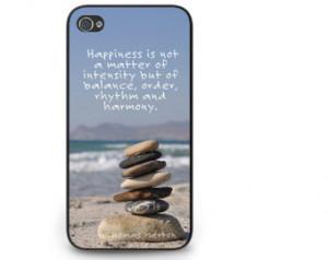 Zen Quote iPhone Cases - Balance Ro cks iPhone 5s Phone Cover - iPhone ...