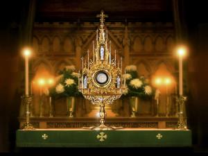 Eucharistic Adoration at the University of St. Thomas