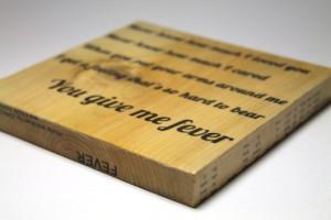 Customized Lyric Art Quote Block Wood Block Wedding by AsqueStudio, $ ...