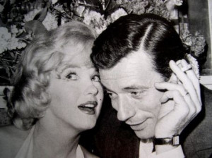 Photo - Portrait d'Yves Montand et Marilyn Monroe