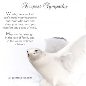... no one can heal Free Sympathy Cards – In Deepest Sympathy