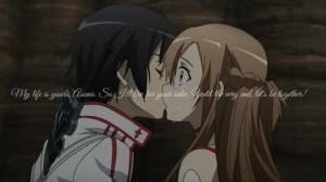 Anime quotes Sword Art Online LOVE