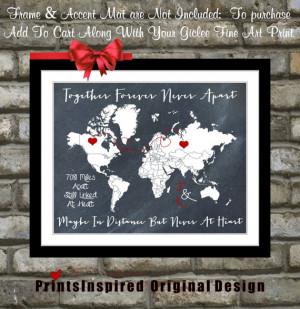 Going Away Present: For Boyfriend Girlfriend Couple Husband Wife ...