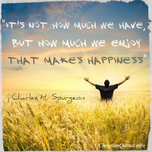 Charles Spurgeon Quote – Happiness