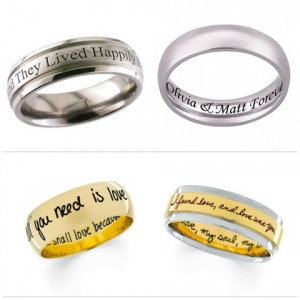 Engraved Wedding Bands written piece which is classed within Wedding ...