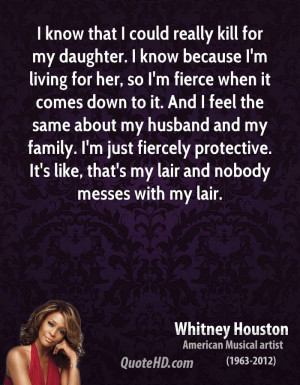 ... family. I'm just fiercely protective. It's like, that's my lair and