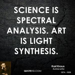 Karl Kraus Science Quotes