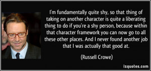 More Russell Crowe Quotes