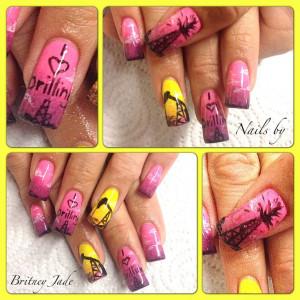 Oilfield nails!!!! I love drilling!