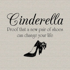 Fairy Tales Cinderella Quote Inspirational Wall by DigitalThings, $1 ...