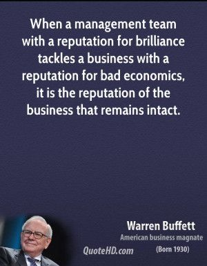 reputation for brilliance tackles a business with a reputation for bad ...