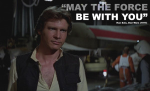 ... Solo absolutely nails the iconic movie quote in Star Wars: A New Hope