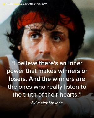 Sylvester stallone quotes sayings inner power winner