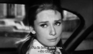audrey hepburn, breakfast at tiffanys, girl, love, movie, quote, scene ...