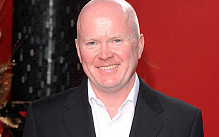 ... at Christmas lights event featuring EastEnders actor Steve McFadden