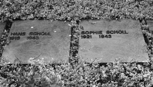 The graves of Hans & Sophie Scholl