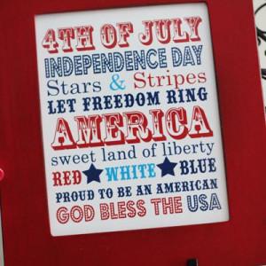 4th of July Subway Art {Patriotic Quotes}