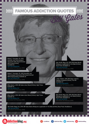 Bill Gates quotes on drugs and marijuana legalization (INFOGRAPHIC)