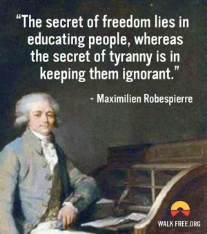 Maximilien robespierre quote