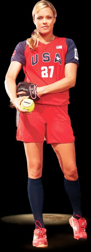 Jennie Finch Playing Softball