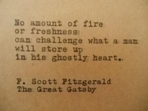 GREAT GATSBY F. Scott FITZGERALD Quote Typed on Typewriter