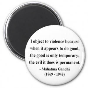 Gandhi Inspirational Quote About Self-Help Refrigerator Magnets