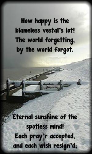 Eternal Sunshine of the Spotless Mind ~ Alexander Pope Hautboi ...