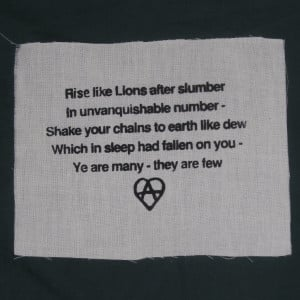 ... Anarchy, Percy Bysshe Shelley, 1819 - punk patch anarchy patches