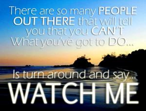 Imaginspiration: Watch Me