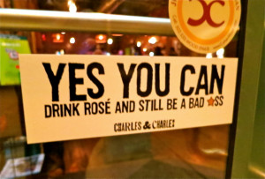 Rose Wine Quote @ Meat Bar