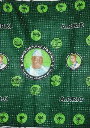 in quotes?) 2006. Campaign cloth from Gambian President Yahya Jammeh ...