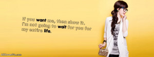 Stylish Cute Girl Quote Facebook Cover Photos