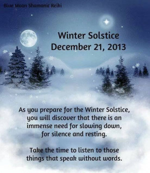 Winter Solstice today...
