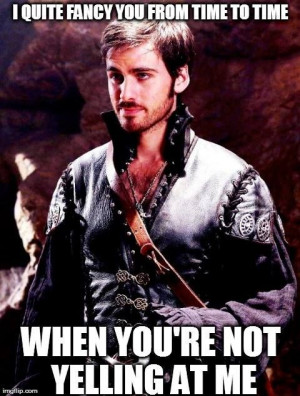 Hook Once Upon A Time Quotes Ouat oh hook :)