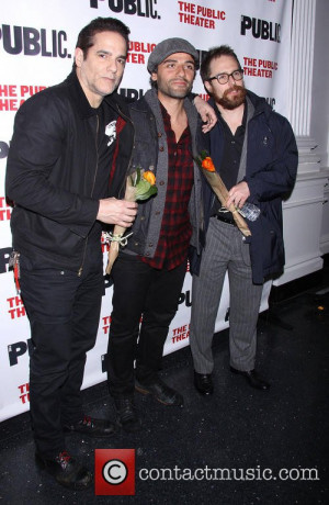 Yul Vazquez , Oscar Isaac and Sam Rockwell - Opening night of The ...