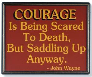 John Wayne quote on courage