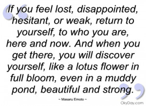 if you feel lost