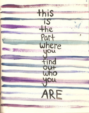 find yourself.