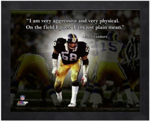 Jack Lambert Pittsburgh Steelers Pro Quotes Framed 8x10 Photo #3 at ...